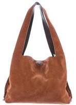 The Row Suede Duplex Fringe Hobo