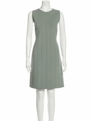 Giorgio Armani Crew Neck Knee-Length Dress Grey