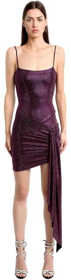 Alexandre Vauthier Crystals Embellished Ruched Jersey Dress