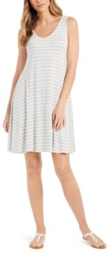 Style&Co. Style & Co Striped Crossback Flared Dress, Created for Macy's