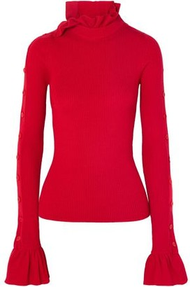 Preen by Thornton Bregazzi Amanda Ribbed Wool Turtleneck Sweater