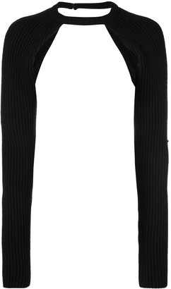 Proenza Schouler Heavy Rib Long Sleeve Shrug
