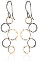 Melissa Joy Manning Mixed Sterling Silver 14K Yellow Gold Bubble Dangle Earrings