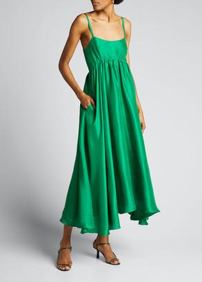 Azeeza Rachel Silk Asymmetric Dress