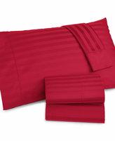 Charter Club Damask Stripe Wrinkle Resistant 500 Thread Count Pima Cotton Extra Deep Pocket Full Sheet Set