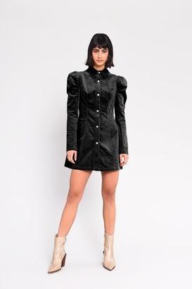 Glamorous Womens **Corduroy Button Through Dress By Black