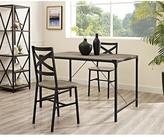 Walker Edison Furniture Company Angle Iron Driftwood Wood Dining Table