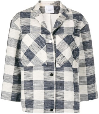Roseanna Indiana Tradition plaid-jacquard jacket