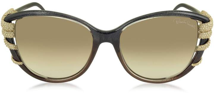 Roberto Cavalli STEROPE 972S Acetate and Crystals Cat Eye Women's Sunglasses