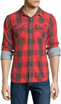 Superdry Flanagan Plaid Forest Shirt, Red Check
