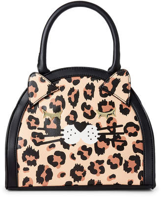Betsey Johnson Luv Betsey By Leopard Printed Cat Satchel