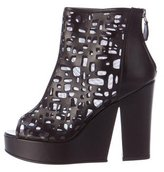 Chanel Laser Cut Platform Ankle Boots w/ Tags