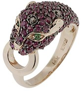 Effy Jewelry Signature Ruby, Black Diamond & Emerald Ring, 2.17 TCW