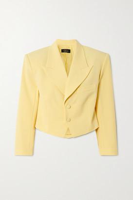 De La Vali Freida Cropped Woven Blazer - Pastel yellow