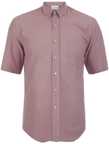 Our Legacy Short Sleeve Classic Shirt Pink Silk
