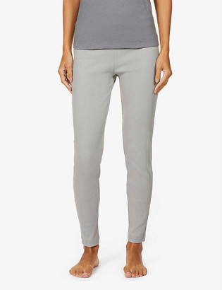 Skin Imogen ribbed high-rise stretch-cotton leggings