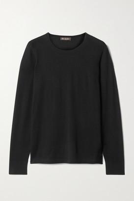 Loro Piana Piuma Cashmere Sweater - Black