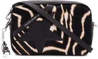 Golden Goose Star zebra-print crossbody bag