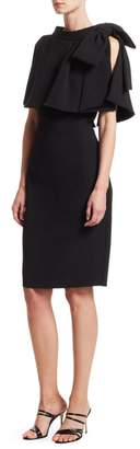 Badgley Mischka Capelet Popover Dress