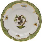 Herend Rothschild Bird Green Motif 4 Bread & Butter Plate