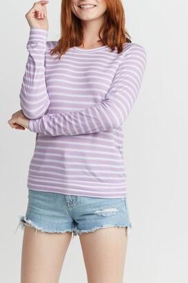 Marine Layer Stripe Printed Long Sleeve T-Shirt