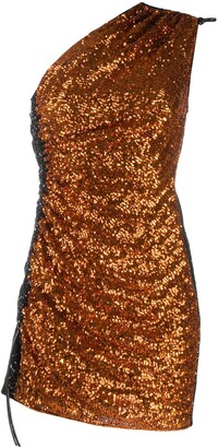 16Arlington One Shoulder Sequin Embellished Dress
