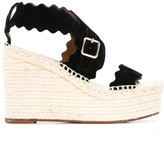 Chloé Lauren 110mm espadrille wedge sandals