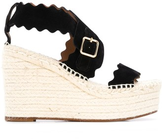 Chloé Lauren 110mm espadrille wedge sandals