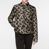Paul Smith Women's Black 'Chain-Link Heart' Wadded Jacket