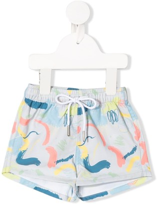 Knot Paint Stroke Swim Shorts