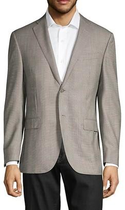 Corneliani Flawless Academy-Fit Glen Check Wool Suit Jacket