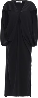 Chalayan Cape-effect Satin-crepe Midi Dress
