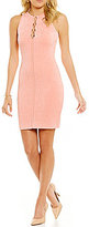 GUESS Mirage Lace-Up Sheath Dress