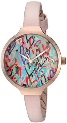 RumbaTime Women's Orchard Love Japanese-Quartz Watch with Leather Strap