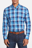 Robert Talbott Crespi II Plaid Trim Fit Sport Shirt