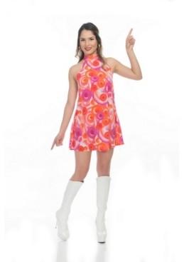 BuySeasons Women's California Dreamin Disco Dress