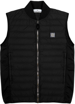 Stone Island Black quilted shell gilet