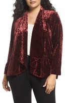 Vince Camuto Plus Size Women's Velvet Drape Collar Jacket