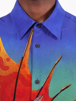Valentino Multicolored Dragon Print Button-down Shirt