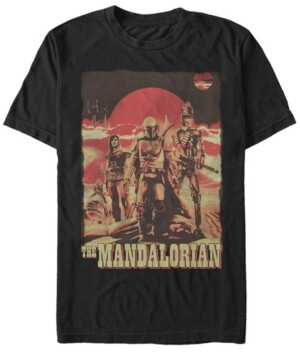 Fifth Sun Star Wars The Mandalorian Space Cowboy Friends Short Sleeve Men's T-shirt
