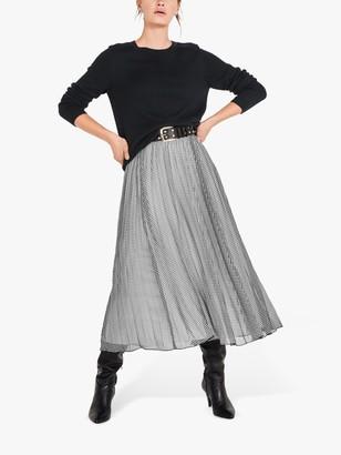 Hush Christine Gingham Maxi Skirt, Black