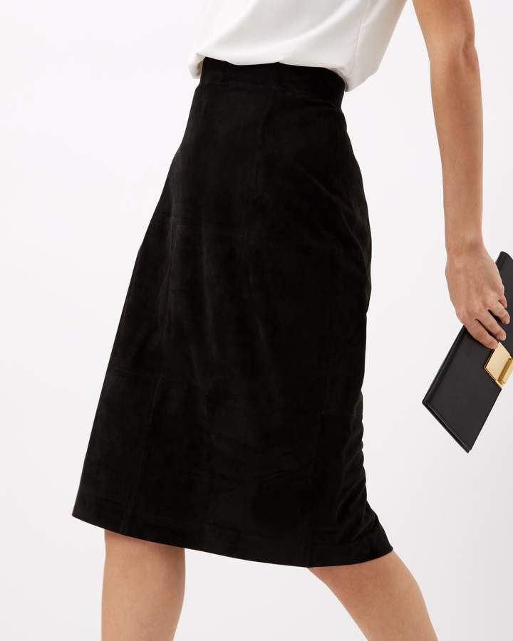 Jaeger Suede Pencil Skirt