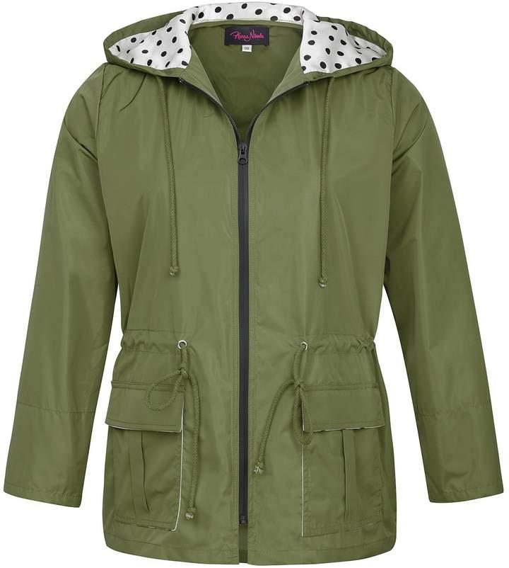 5275f2b69 Hanna Nikole Plus Size Women抯 Lightweight Waterproof Long Sleeve Hooded  Rain Coat