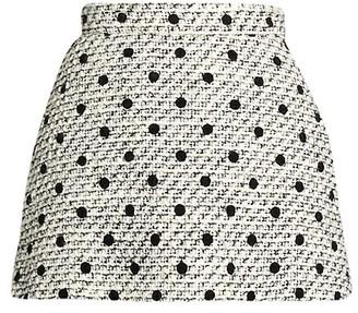 Valentino Polka Dot Tweed Skort