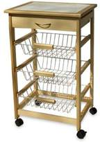 Organize It All Rolling Kitchen Cart with Three Baskets
