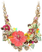 Betsey Johnson Women's Floral Statement Bib Necklace