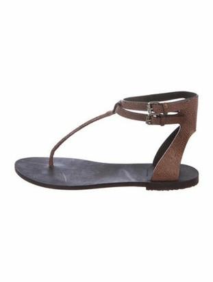 Brunello Cucinelli Ankle Strap Sandals Brown