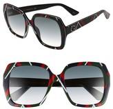 Gucci Women's 54Mm Gradient Square Sunglasses - Black/ Grey
