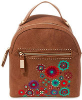 Steve Madden Embroidered Zipped Backpack