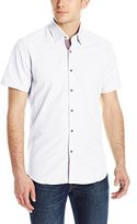 Stone Rose Men's Soft Oxford Short Sleeve Button Down Shirt